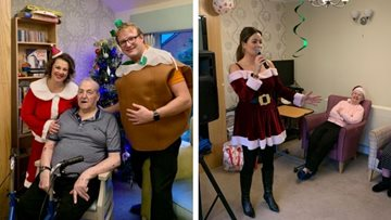 Christmas celebrations at Oldham care home