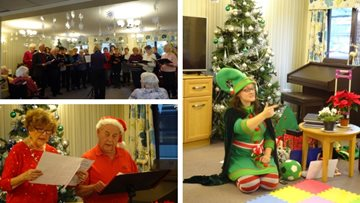 Festive fun at Eastleigh care home