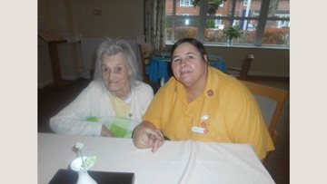 Walsall care home Resident takes a trip down memory lane