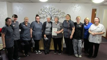 Bannockburn care home celebrates 20 years' service of dedicated Housekeeping Assistant
