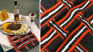 Knit and Natter group takes a Scottish twist for Burns Night