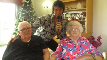 Cramlington care home celebrates New Year with Rock 'n' Roll performance