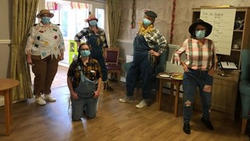 Derby care home celebrate the harvest festival