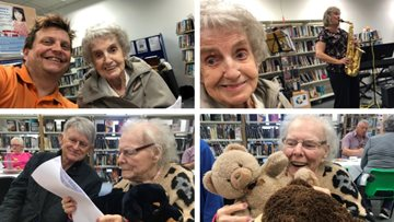 Poulton-le-Fylde care home Residents support local library with new memory café