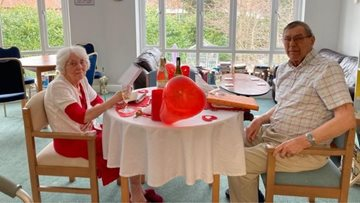 Married couple reunited for Valentine's Day at Newcastle care home