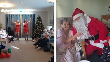 Christmas cheer for all to hear at Boston care home