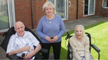 Green-fingered Residents enjoy sunflower planting at Coventry care home