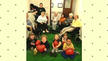 Kildrum Nursery visit The Village Care Home