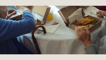 Fish and chips treat for Tregony care home Residents