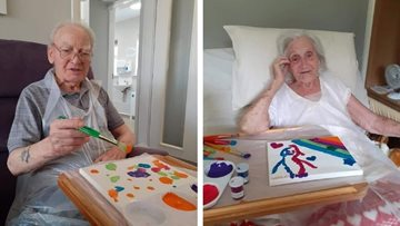 Boston care home take part in crafts for Pride