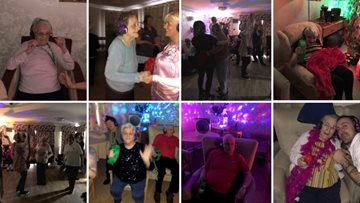 Residents dance the afternoon away at Silent Disco