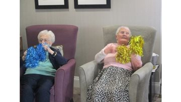 Residents keep fit with armchair exercises
