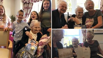 Resident marks 100th birthday with two parties