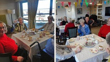 Douglas View enjoy high tea at Abbeydale Court