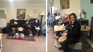 Residents beat the drums at Stornoway care home