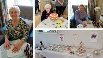 Mother's Day celebrations at Morpeth care home