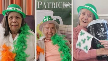St. Patrick's Day celebrations at Glasgow care home