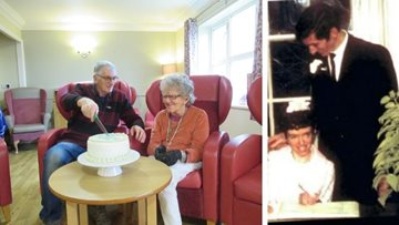 Couple celebrates golden wedding anniversary at Wotton-under-Edge care home
