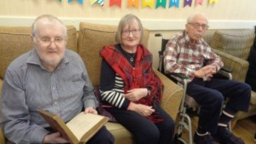 Nottingham care home Residents celebrate Burns Night