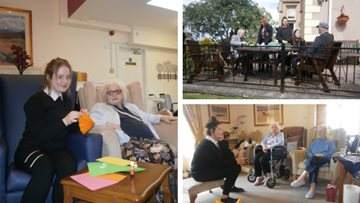 Intergenerational project at Penrith care home