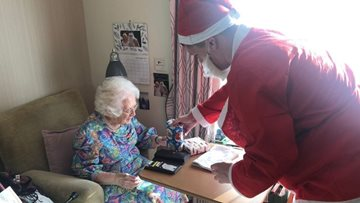 Whitley Bay care home Residents celebrate Christmas