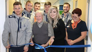 Hartlepool United FC Players Unveil Mural at Local Care Home
