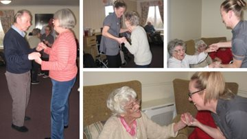 Residents dance the afternoon away at Forthbank care home