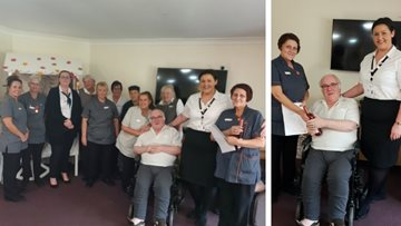 Ferryhill care home celebrates twenty years' service of hardworking care assistant
