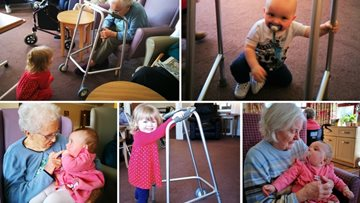 Bairns, a Blether and a Brew's visits never fail to make Residents smile