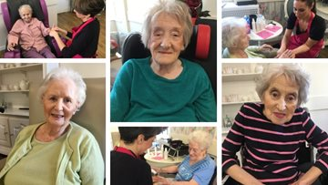 The spa is brought to Glanffrwd as Residents enjoy peaceful pamper session