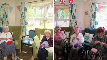 Sit 'n' Knit day is a success at Mountain Ash care home