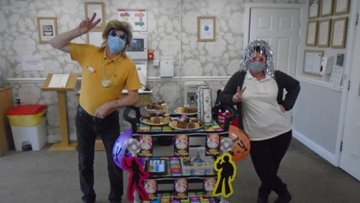 Stockton-on-Tees care home Residents enjoy 70's themed afternoon tea