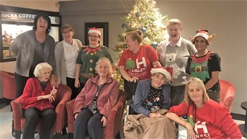 Daisy Nook Residents enjoy festive feast served with all the trimmings