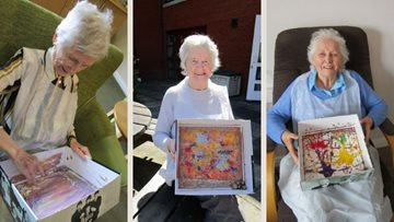Ayr care home Resident create unique marble art