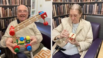 An afternoon of games and puzzles at Falkirk care home