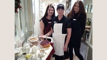 Altham Court Residents enjoy afternoon tea with a fancy twist