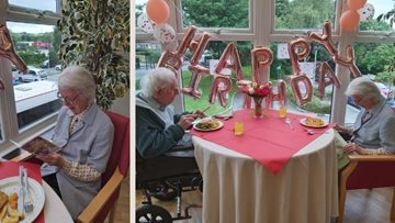 Bolton care home couple celebrate wife's 76th birthday