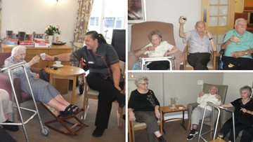 Wine and cheese night at Kenton care home