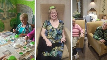 Residents at Huddersfield care home celebrate St. Patrick's Day