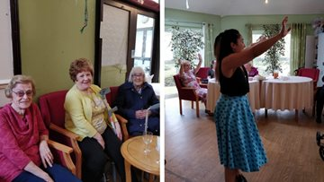 Birthday celebrations at Bolton care home