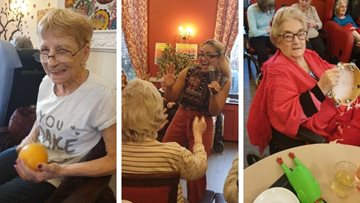 Worsley Lodge enjoys afternoon tea with fellow HC-One Residents