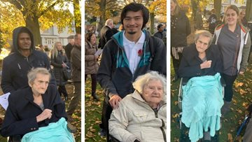 Harefield care home Residents commemorate Armistice Day