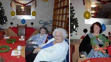 Residents enjoy Christmas crafts day at Barton Brook