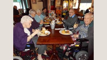 Eastbourne care home Residents enjoy lunch outing