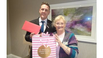 St Clare's receive a generous present from Resident's family
