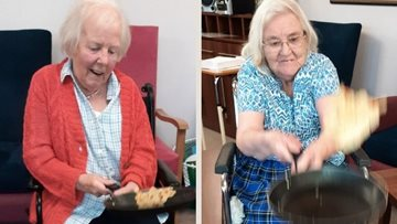 A flipping good Shrove Tuesday at Essex care home