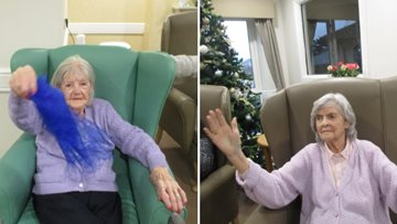 Residents enjoy an afternoon of freelance dance