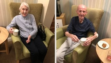 Westquarter care home Residents celebrate Bonfire Night indoors