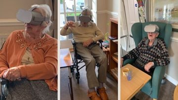 Leeds care home Residents travel the world with virtual reality
