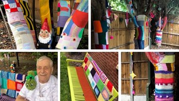 Yarn bombers make a statement at Coventry care home